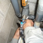 給水施工風景 単水栓