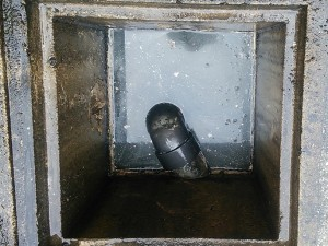 小倉南区徳力 排水桝つまり 高圧洗浄後